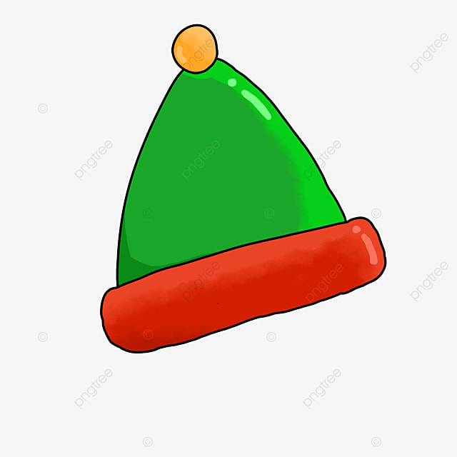 red green triangle elf cartoon hat clipart