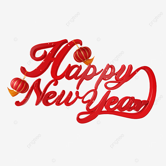 red lantern happy new year font
