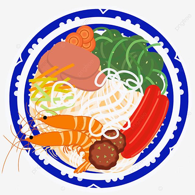 sausage kelp shrimp flavor ramen clip art