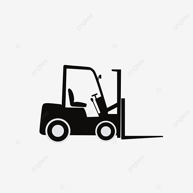 simple hand drawn forklift clipart
