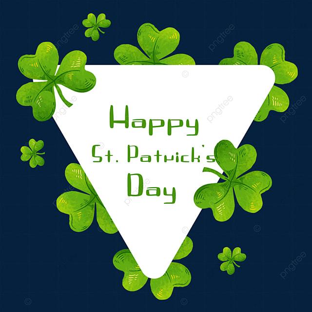 st patricks day triangle border green