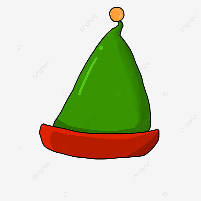triangle red green elf hat clipart