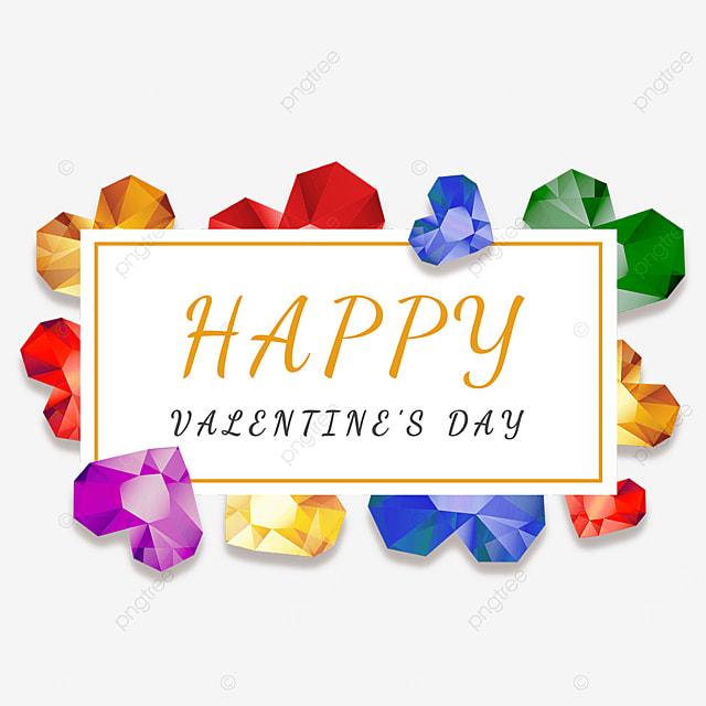 valentine border colorful diamonds