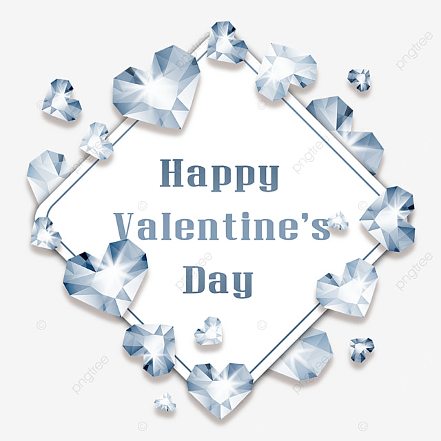valentine border silver diamond