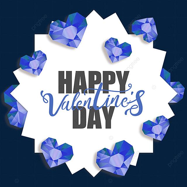 valentines day blue diamond border