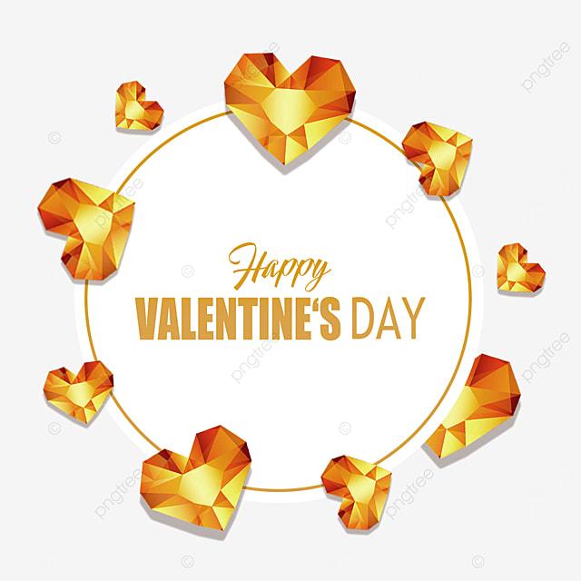 valentines day diamond border gold