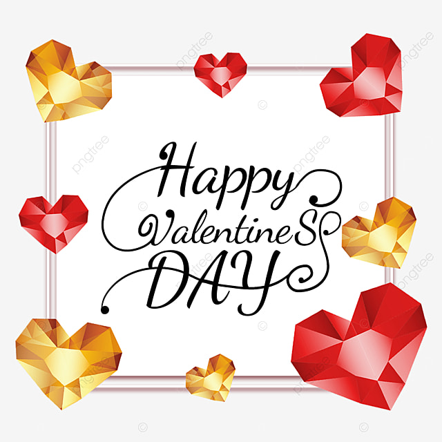 valentines day diamond border holiday