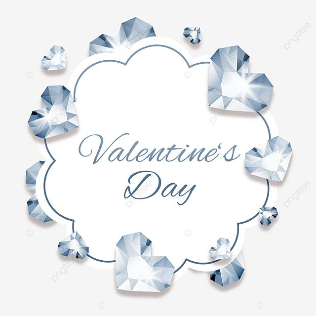 valentines day diamond border love heart