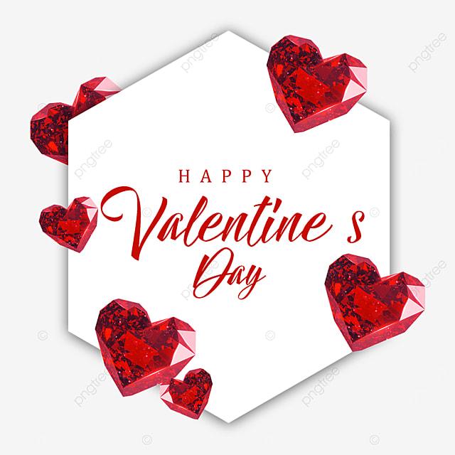 valentines day diamond border red love heart