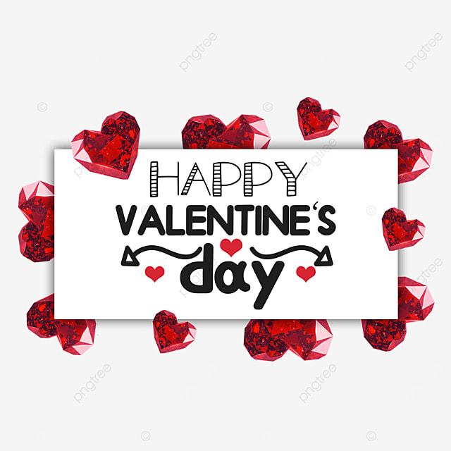 valentines day diamond border red