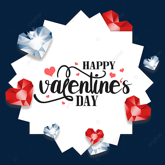 valentines day diamond border silver