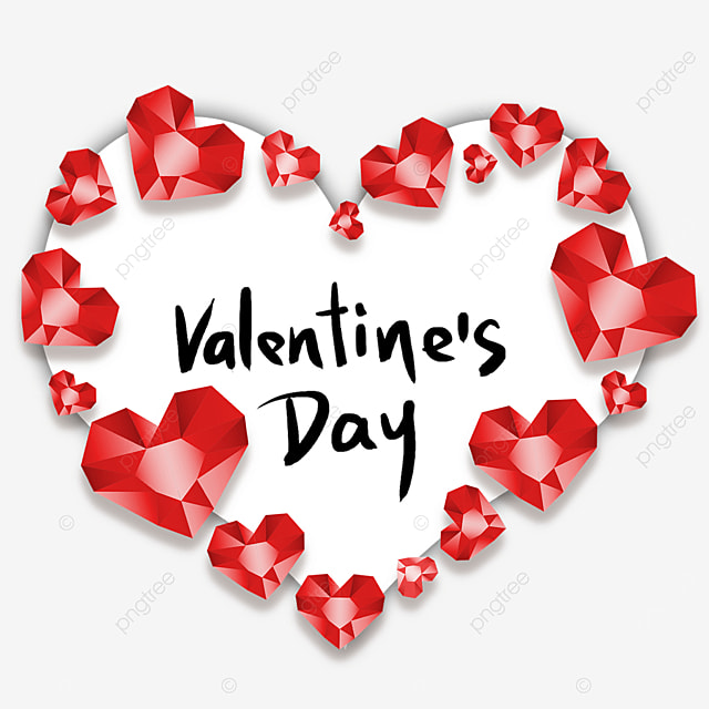 valentines day diamond love border