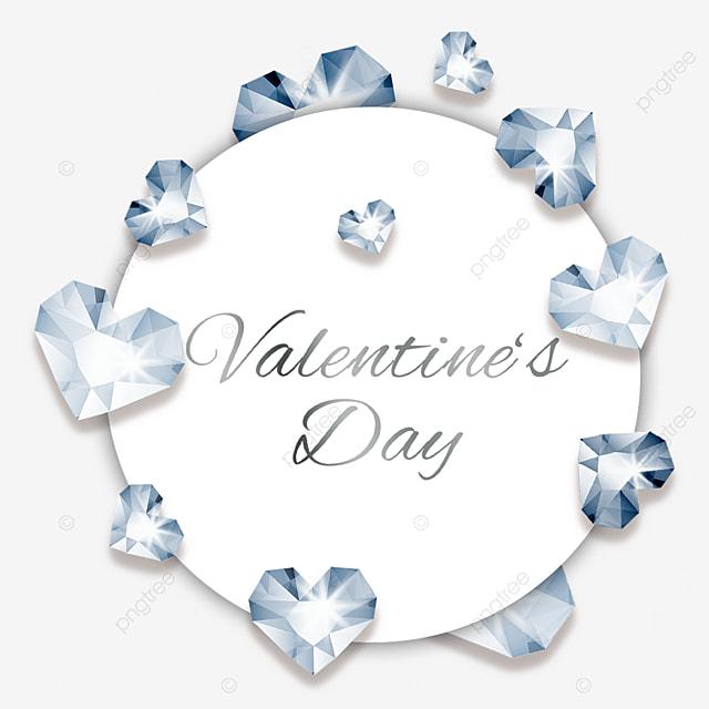 valentines day diamond round border