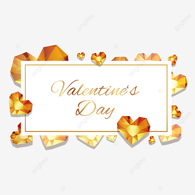 valentines day golden diamond border