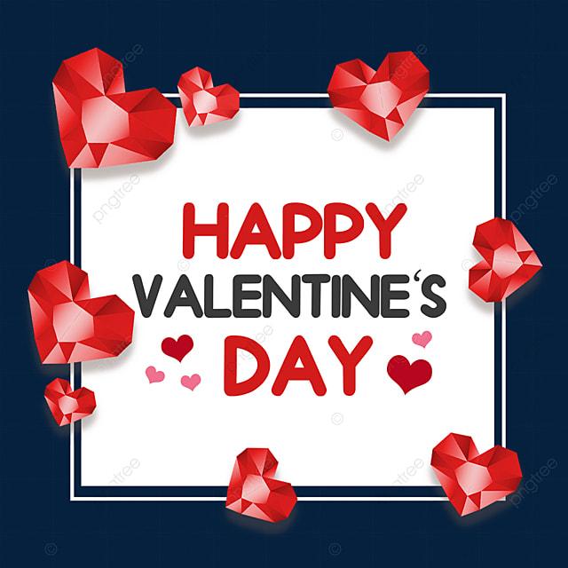valentines day love diamond border