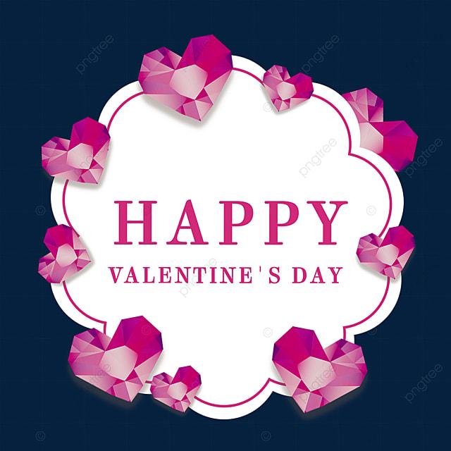 valentines day pink border diamond