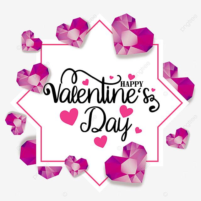 valentines day pink diamond border holiday