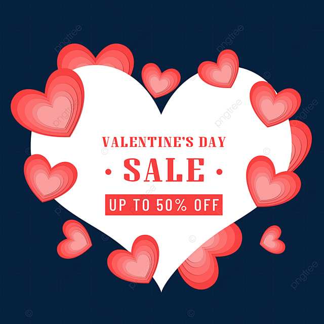 valentines day promotion border red love heart