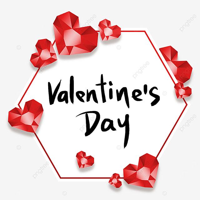 valentines day red diamond border