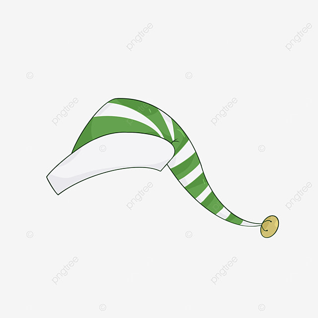white and green elf hat clip art