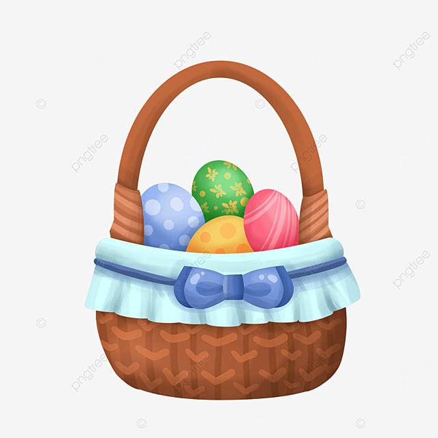wooden easter basket clip art
