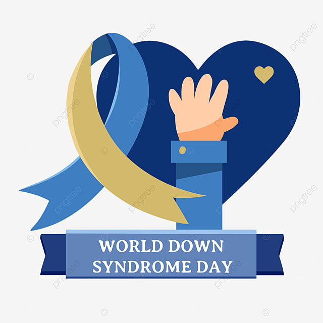 world down syndrome day blue heart