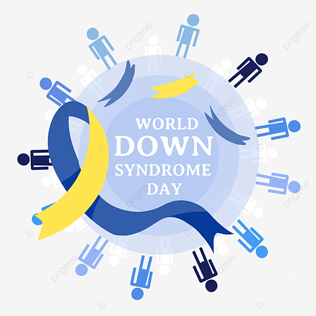 world down syndrome day blue promotion