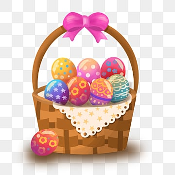 pngtree easter with colorful eggs clipart png image 2884102