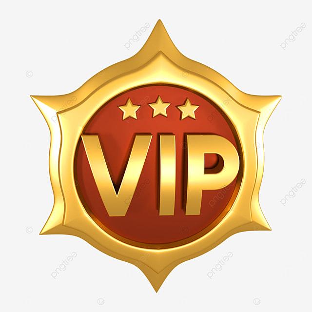 3d gold badge vip