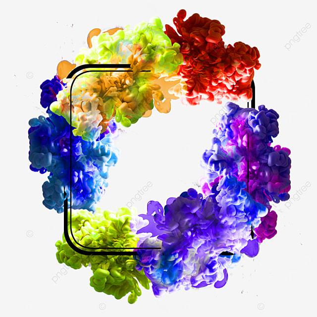 abstract geometric colorful smoke