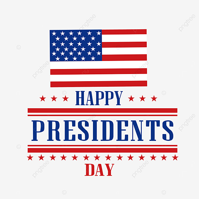 american presidents day flag logo