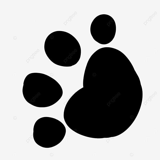 animal black footprint paw clipart