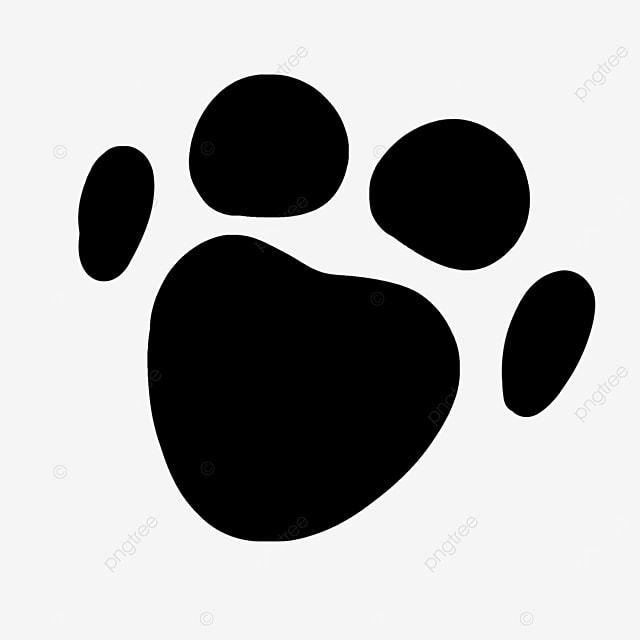 animal footprints example illustration paw clipart