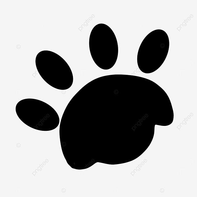 animal walking imprint paw clipart