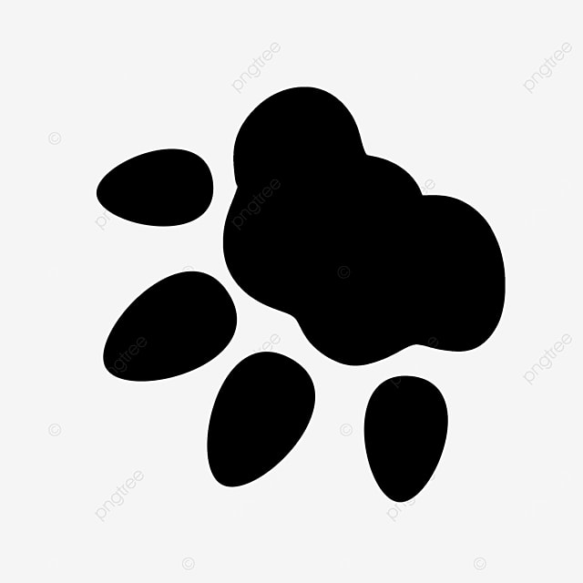 animal walking traces footprints paw clipart