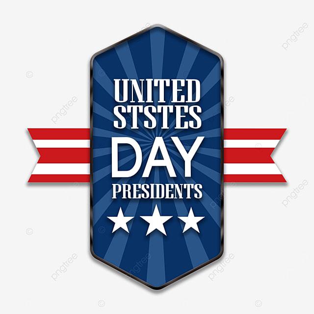 badge american presidents day