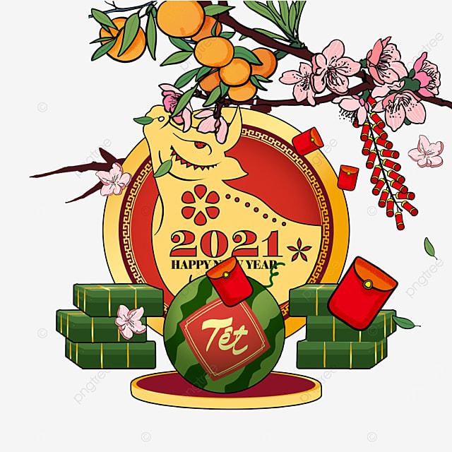baiye prosperity vietnam spring festival watercolor border