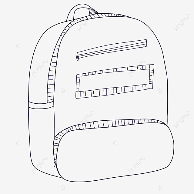 beautiful bag clipart black and white