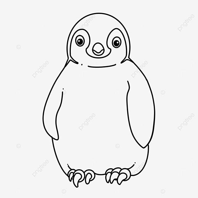 bird penguin clipart black and white