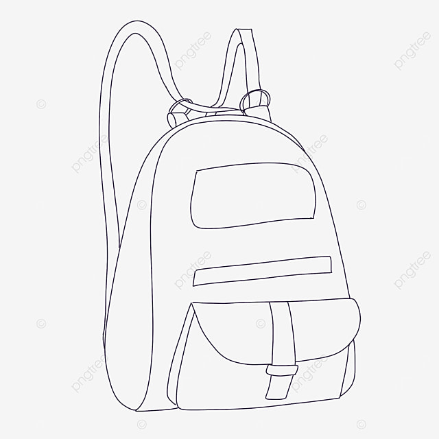 charming bag clipart black and white
