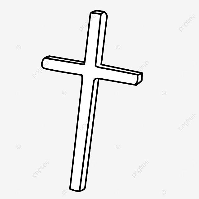 church prayer rectangular black and white cross clipart