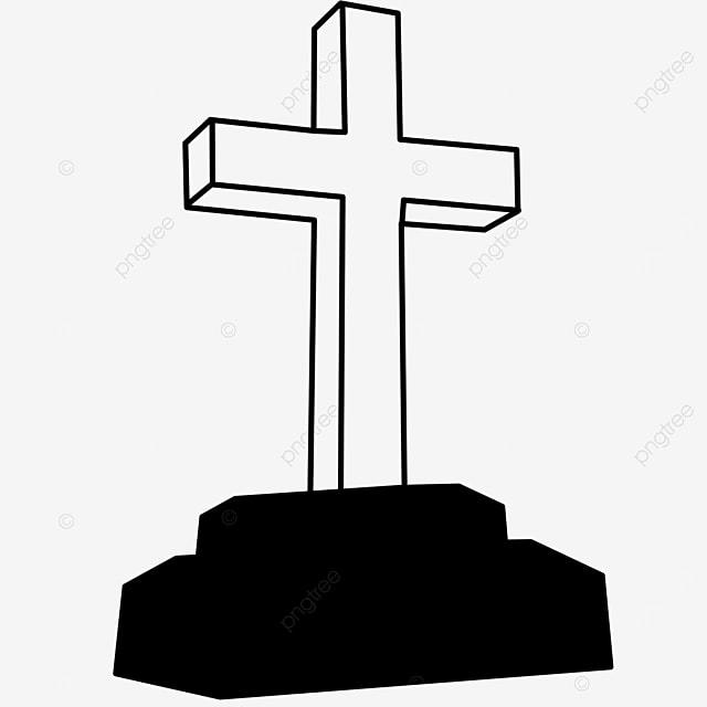 church praying cross clipart black and white
