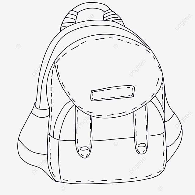 clean bag clipart black and white