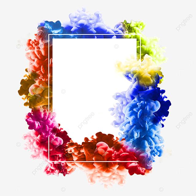 color smoke abstract border