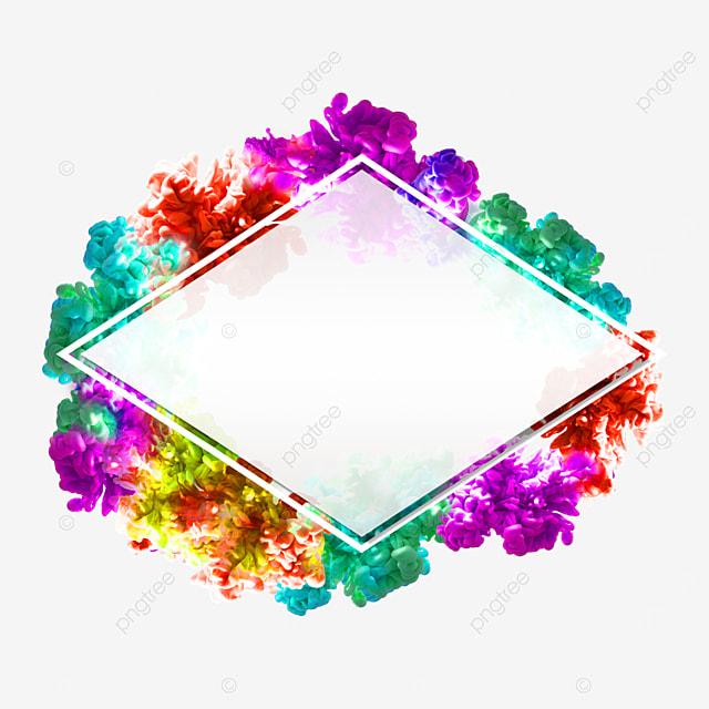 color smoke diamond border