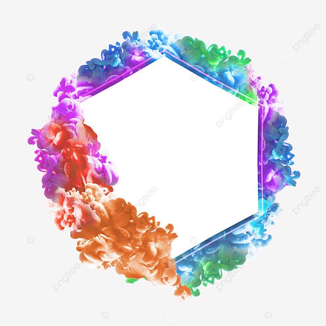 colorful smoke geometric creative border