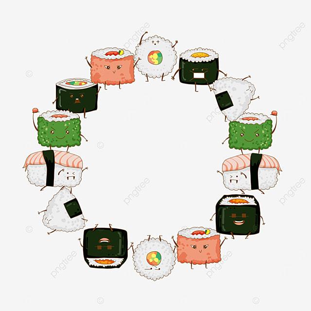 concise sushi border