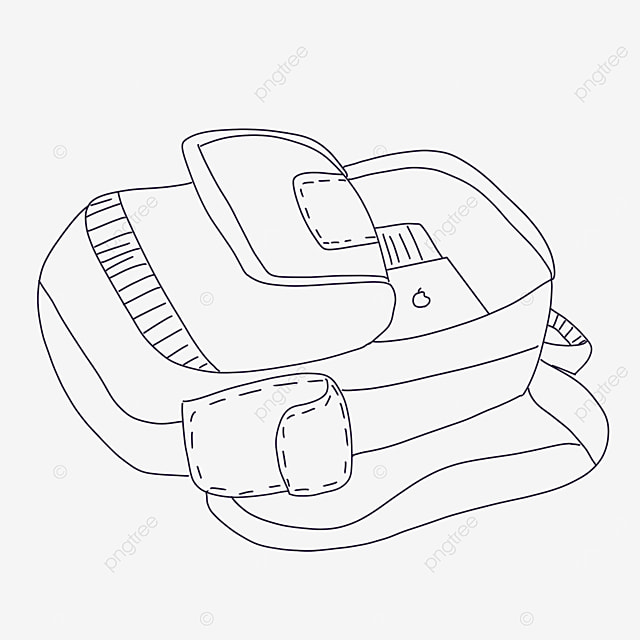 falling bag clipart black and white
