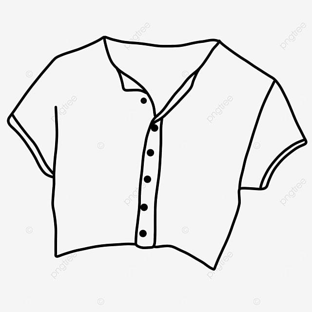 female fashion dress shirt clipart black and white