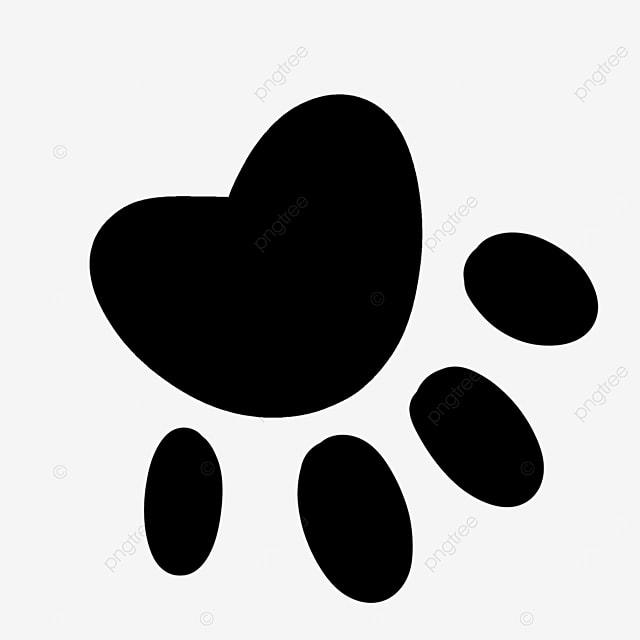 footprint handprint cartoon paw clipart